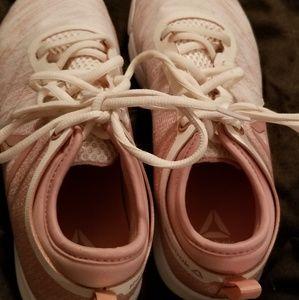 Pink Reebok shoes